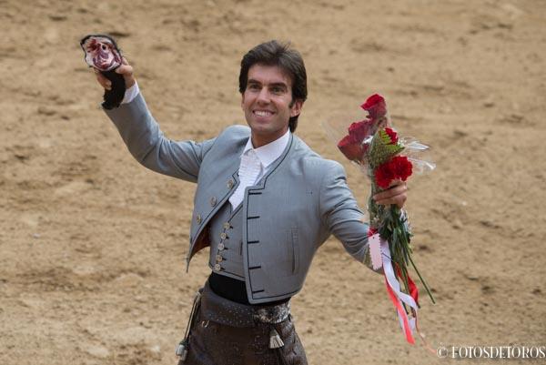 Gran tarde de Sergio Galán en la Plaza de las Ventas, rozando la Puerta Grande de Madrid.