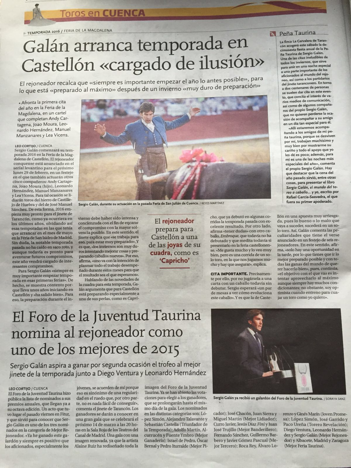 Sergio Galán arranca temporada en Castellón, cargado de ilusión.