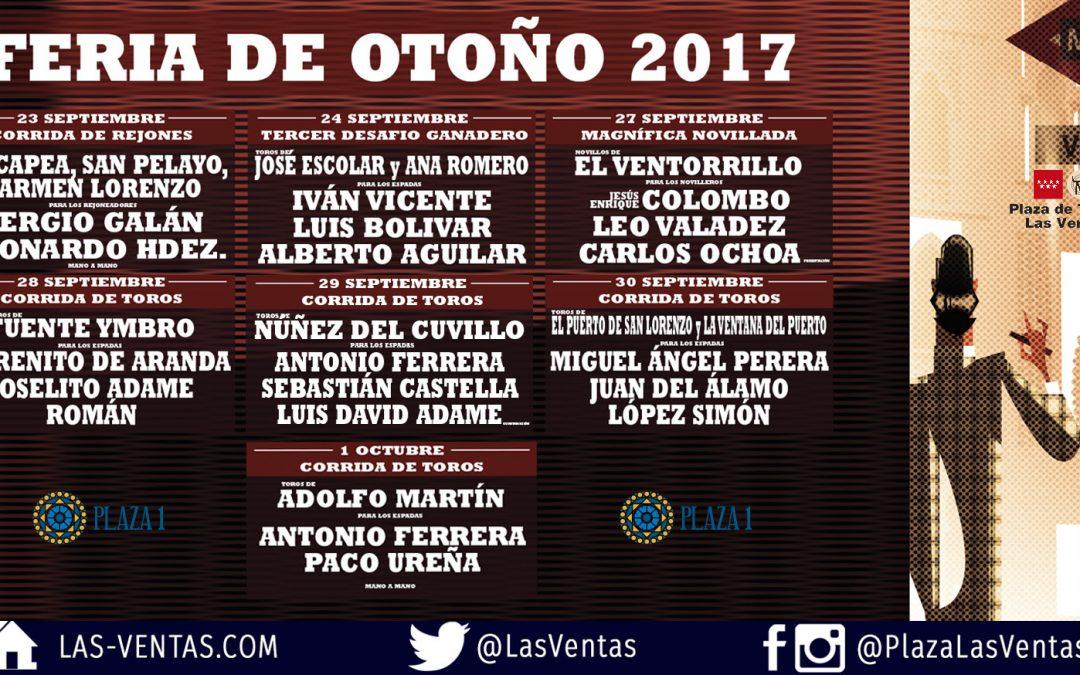 Sergio Galán regresa a Las Ventas en la Feria de Otoño