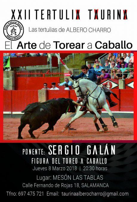 Sergio Galán en la XXII Tertulia Taurina de Albero Charro