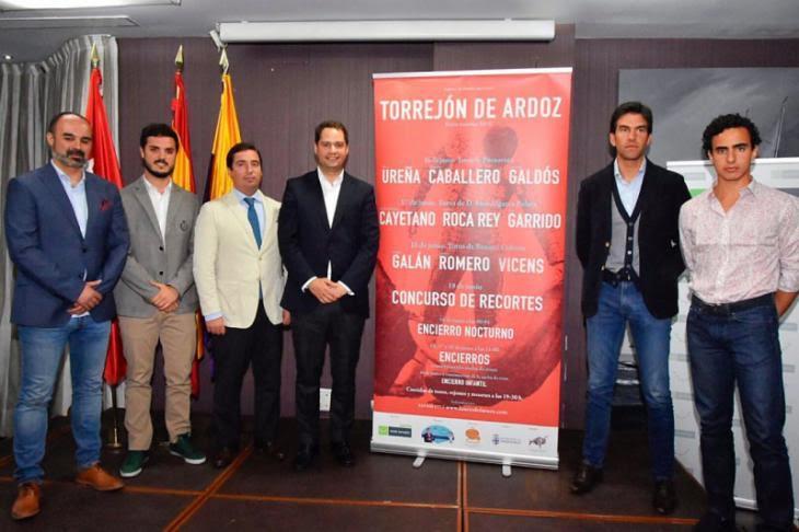 Sergio en la presentación de los carteles de la Feria Taurina de Torrejón de Ardoz 2018